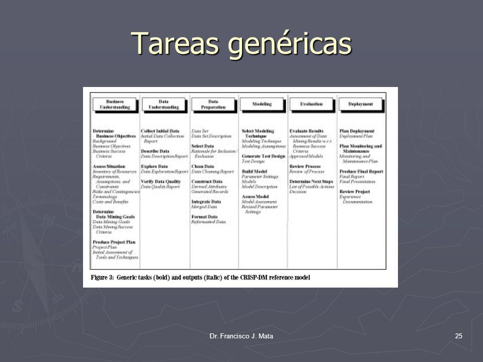 Dr. Francisco J. Mata25 Tareas genéricas