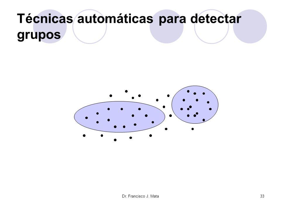 Dr. Francisco J. Mata33 Técnicas automáticas para detectar grupos