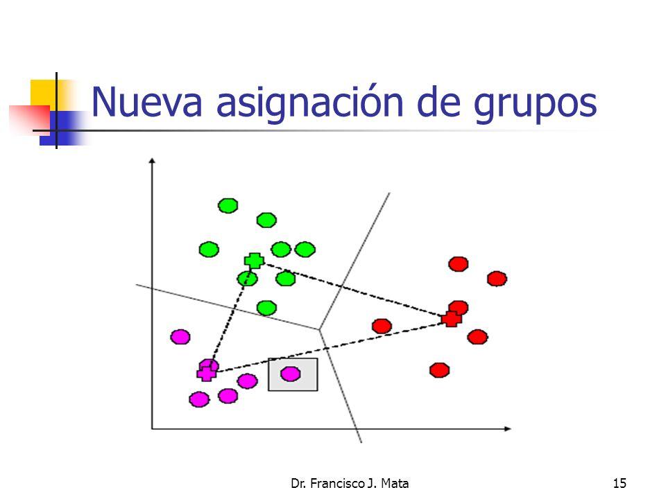 Dr. Francisco J. Mata15 Nueva asignación de grupos