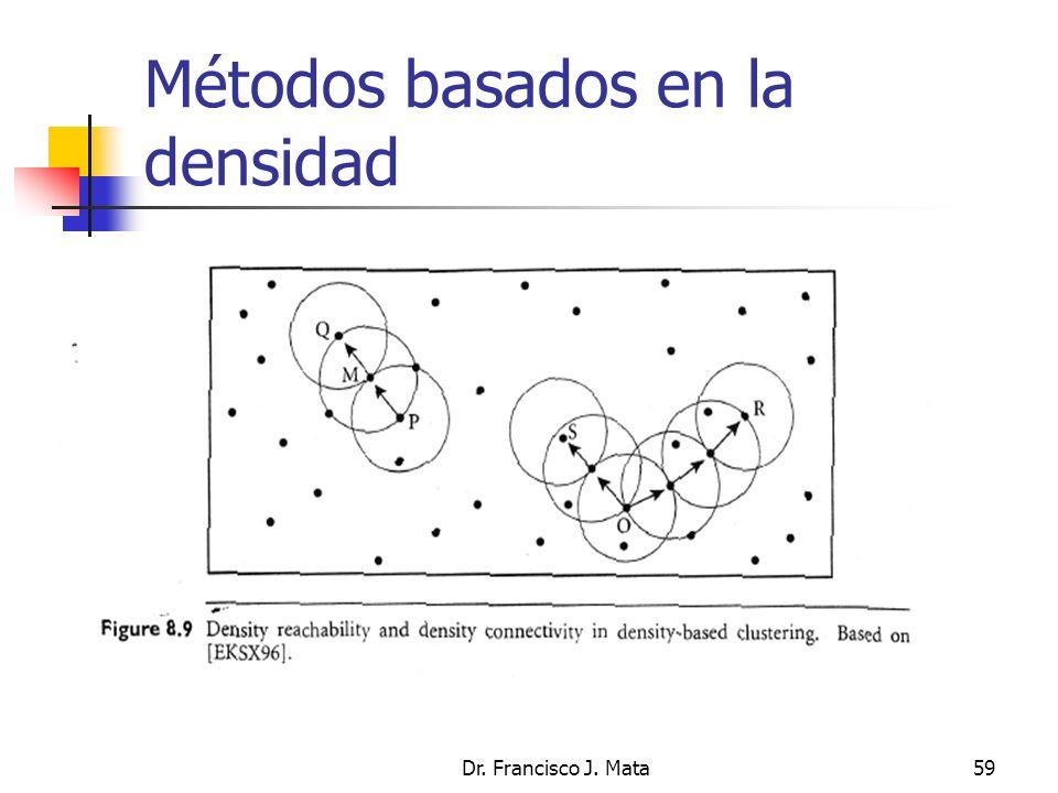 Dr. Francisco J. Mata59 Métodos basados en la densidad