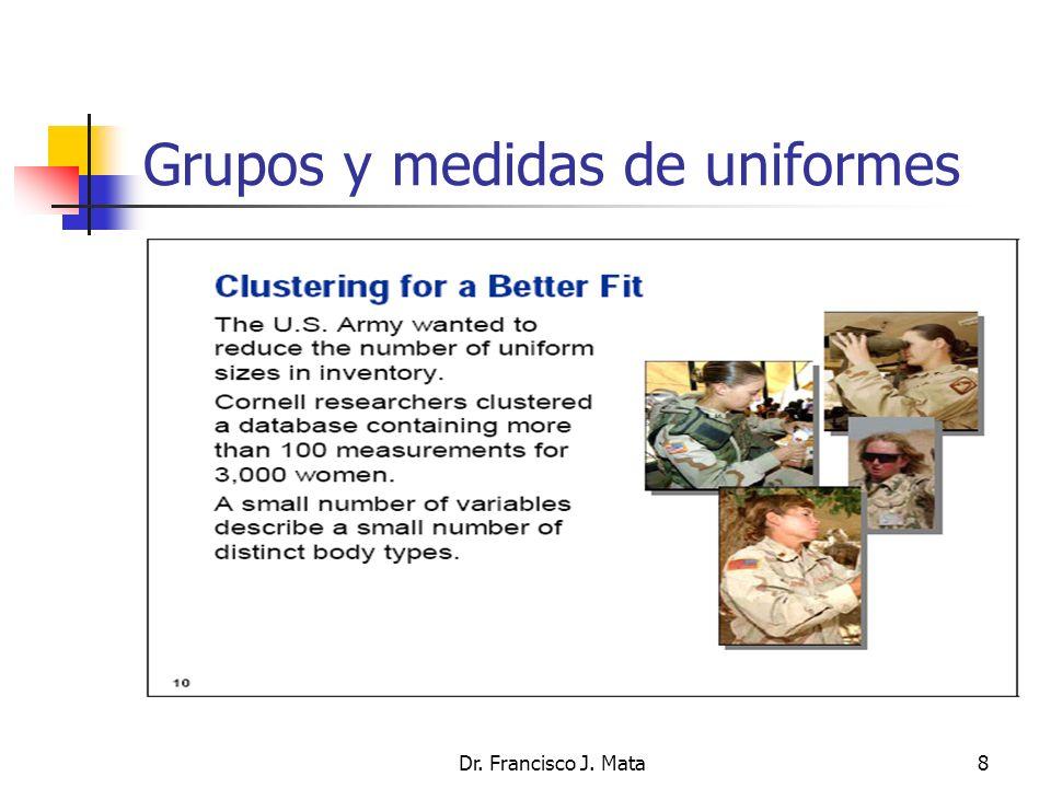 Dr. Francisco J. Mata8 Grupos y medidas de uniformes