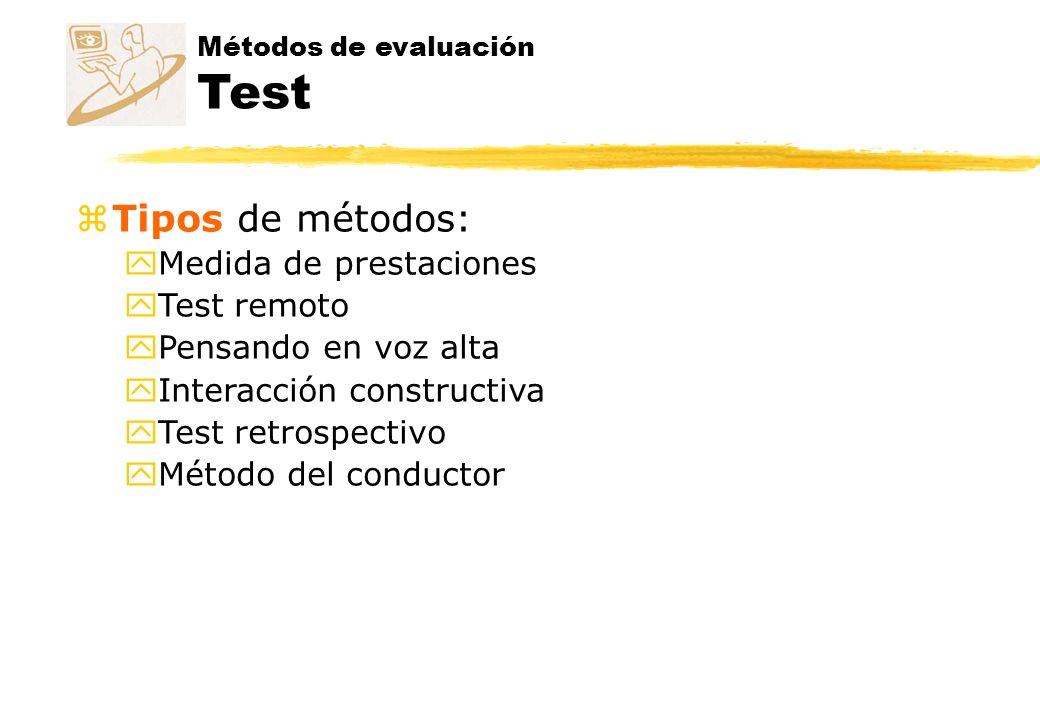Métodos de evaluación - Test Pensando en voz alta z Thinking aloud z ¿Qué es.
