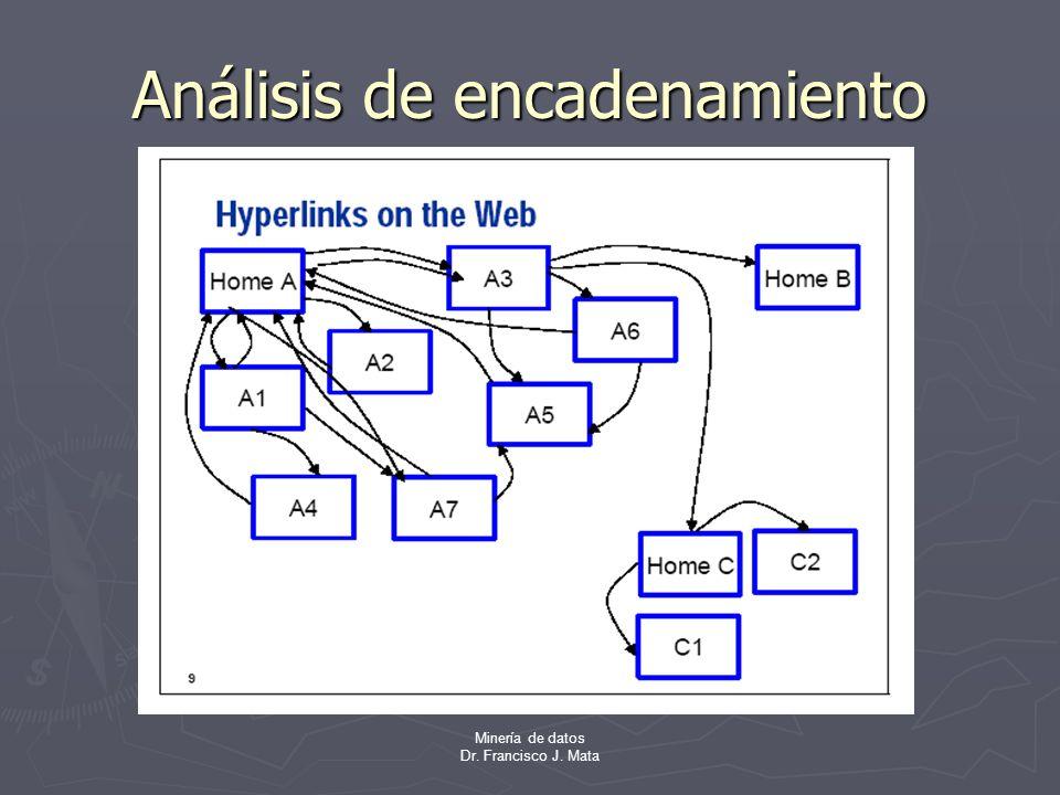 Minería de datos Dr. Francisco J. Mata Análisis de encadenamiento