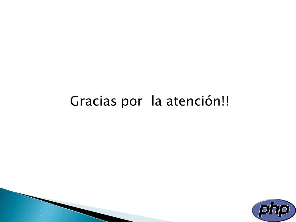 Gracias por la atención!!