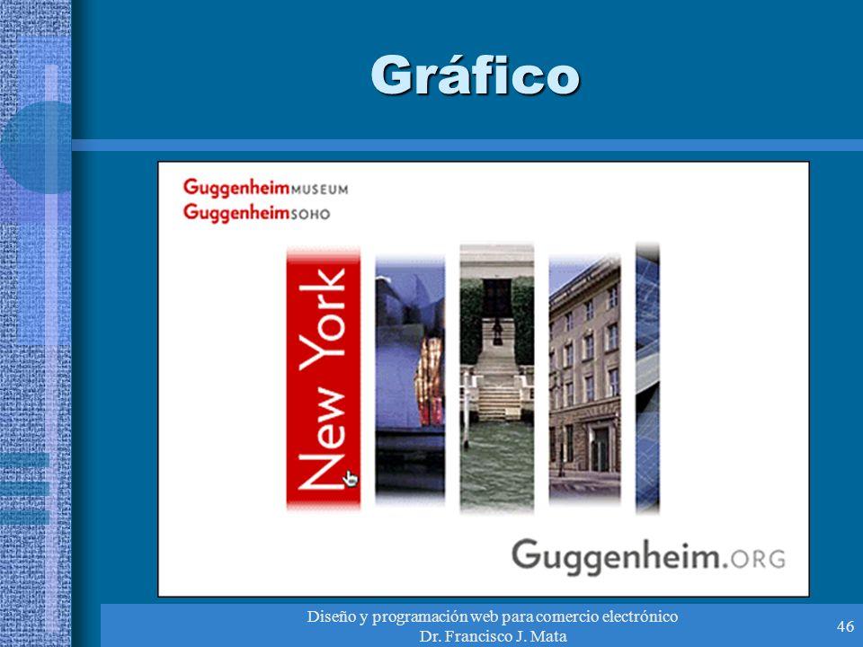 Diseño y programación web para comercio electrónico Dr. Francisco J. Mata 46 Gráfico