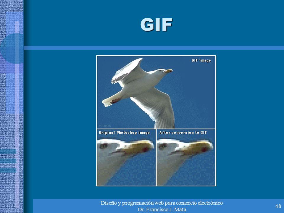 Diseño y programación web para comercio electrónico Dr. Francisco J. Mata 48 GIF