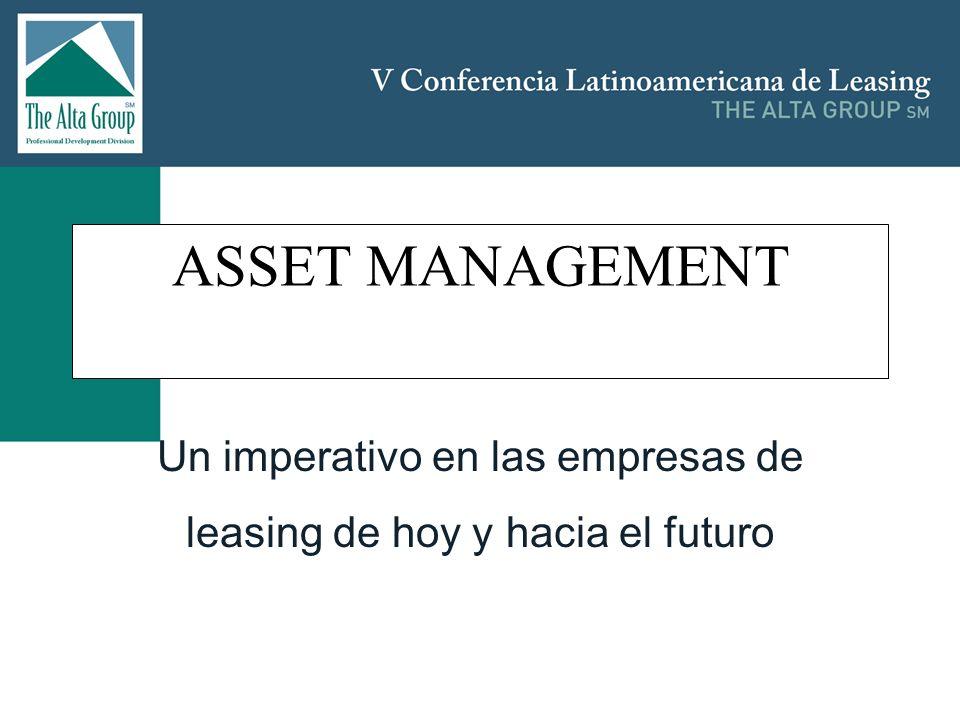 Contenido Perspectiva histórica: De como el modelo de negocios de las arrendadoras ha evolucionado desde los full payout leases hacia los residual based leases to FMV (Fair Market Values); La imposición por determinantes externos tales como las regulaciones (Financieras- Basilea II, y contables: IAS 16, IFRS y FAS 157) de la obligación de adoptar sistemas de seguimiento de mark-to-market monitoring de activos colaterales (Activos en leasing dentro del portafolio de las Arrendadoras); El imperativo de tener recursos in-housepara manejo de riesgos (incluyendo personal bien entrenado), sistemas y procesos (Best practices); Panorámica general de los mercados de bienes de capital en Latinoamérica y principalmente: –Vehículos automotores (automoviles de pasajeros y camiones), los cuales representan más del 50% del portafolio conocido; –Equipo de IT (Segundo item principal), los cuales conllevan las preocupaciones de sus altas tasas de obsolescencia; –Equipo de construcción (el cual ha experimentado un boom en los últimos 5 años en Latinoamérica, pero que todos sabemos que es un mercado cíclico); –Equipo de impresión (Aunque no es muy significativo, es ampliamente arrendado); –Equipo médico (Ha empezado a emerger).