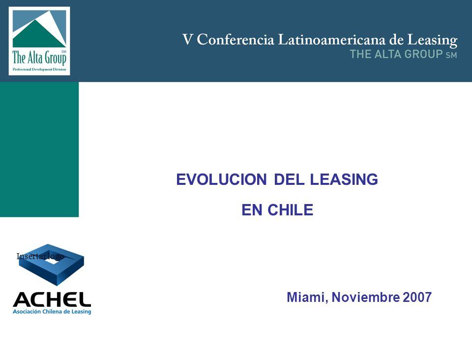 Insertar logo EVOLUCION DEL LEASING EN CHILE Miami, Noviembre 2007