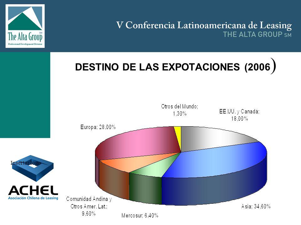 Insertar logo DESTINO DE LAS EXPOTACIONES (2006 )
