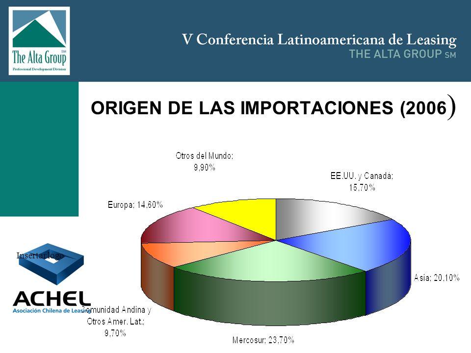 Insertar logo ORIGEN DE LAS IMPORTACIONES (2006 )