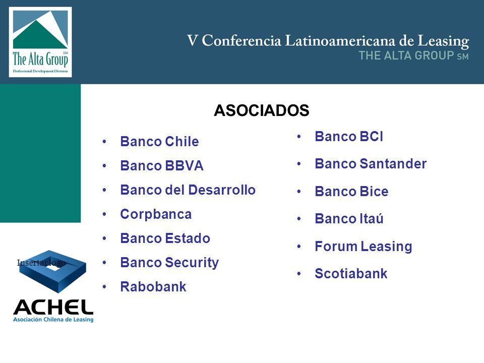 Insertar logo Banco Chile Banco BBVA Banco del Desarrollo Corpbanca Banco Estado Banco Security Rabobank Banco BCI Banco Santander Banco Bice Banco It