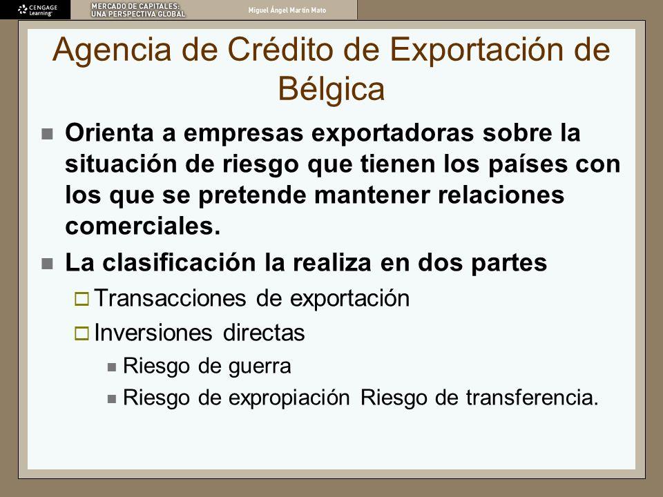 Agencia de Crédito de Exportación de Bélgica Orienta a empresas exportadoras sobre la situación de riesgo que tienen los países con los que se pretend