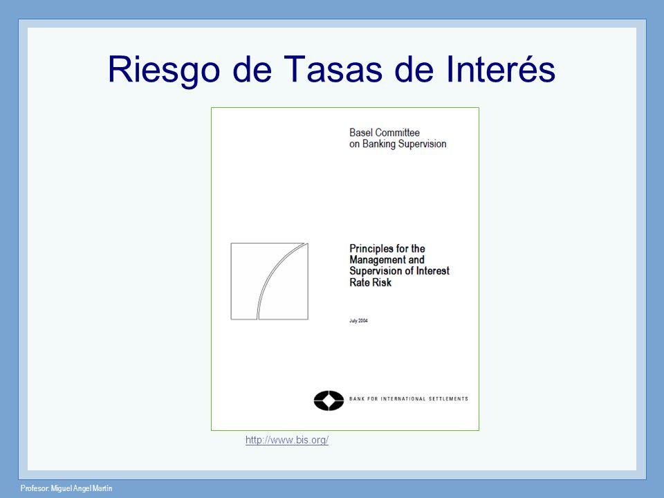 Profesor: Miguel Angel Martín Riesgo de Tasas de Interés http://www.bis.org/