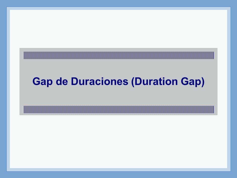 Gap de Duraciones (Duration Gap)