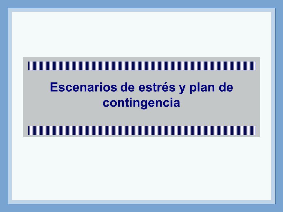 Profesor: Miguel Angel Martín Escenarios de estrés Es importante que la institución tenga elaborados escenarios de estrés.