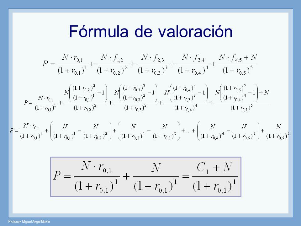 Profesor: Miguel Angel Martín Fórmula de valoración