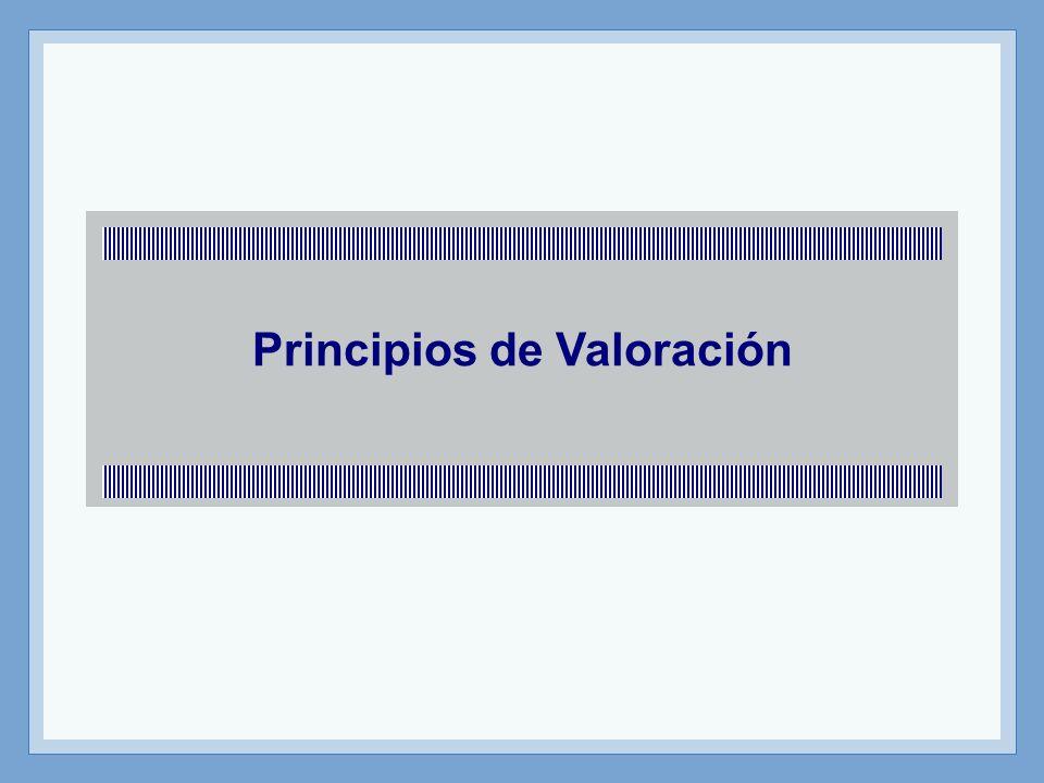 Principios de Valoración