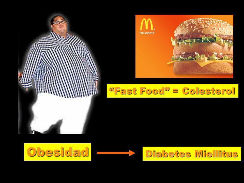 Fast Food = Colesterol Obesidad Diabetes Miellitus