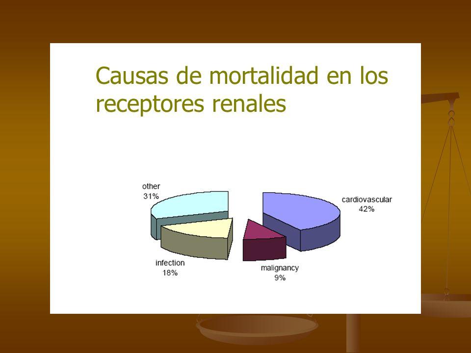 Causas de mortalidad en los receptores renales