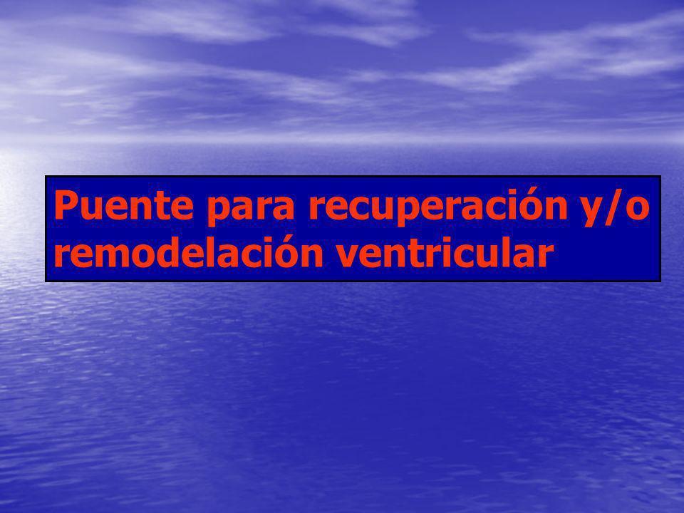 Puente para recuperación y/o remodelación ventricular