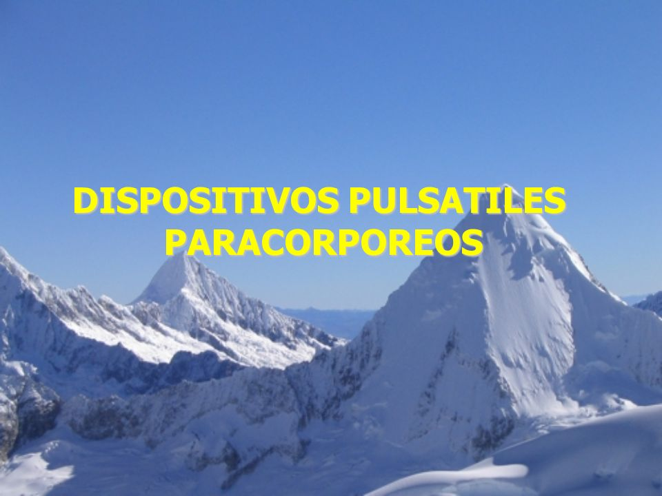 DISPOSITIVOS PULSATILES PARACORPOREOS