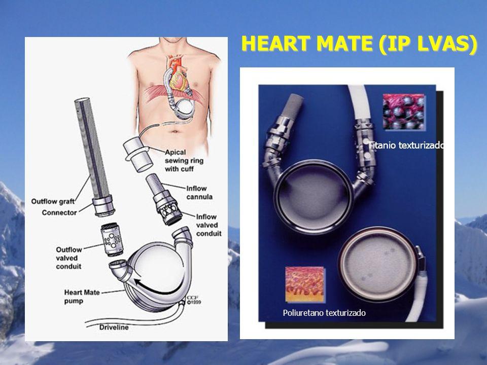 Titanio texturizado Poliuretano texturizado HEART MATE (IP LVAS)
