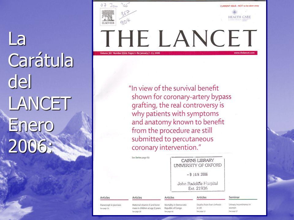 La Carátula del LANCET Enero 2006:
