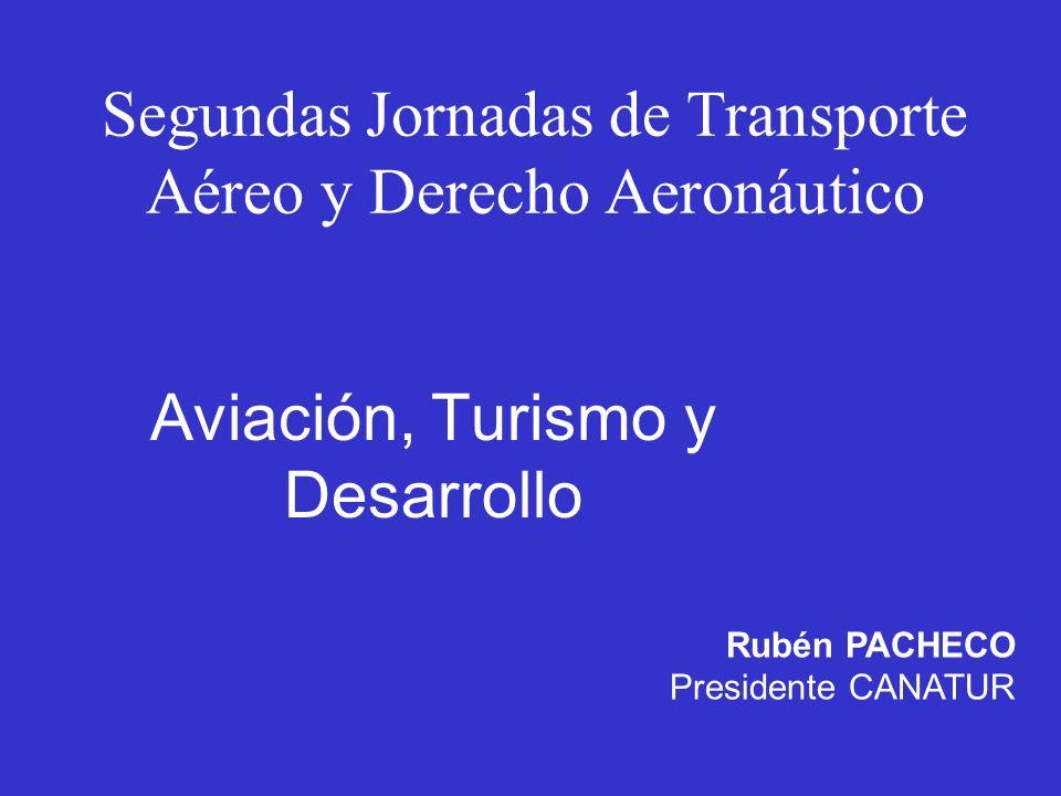 Rubén PACHECO Presidente CANATUR Segundas Jornadas de Transporte Aéreo y Derecho Aeronáutico Aviación, Turismo y Desarrollo