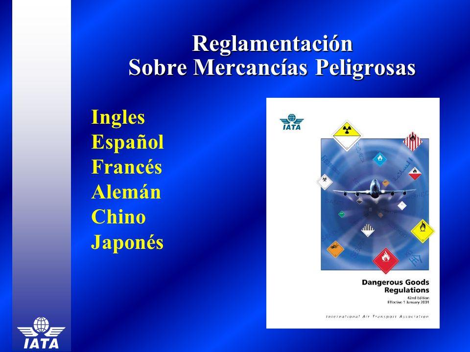 Reglamentación Sobre Mercancías Peligrosas Ingles Español Francés Alemán Chino Japonés