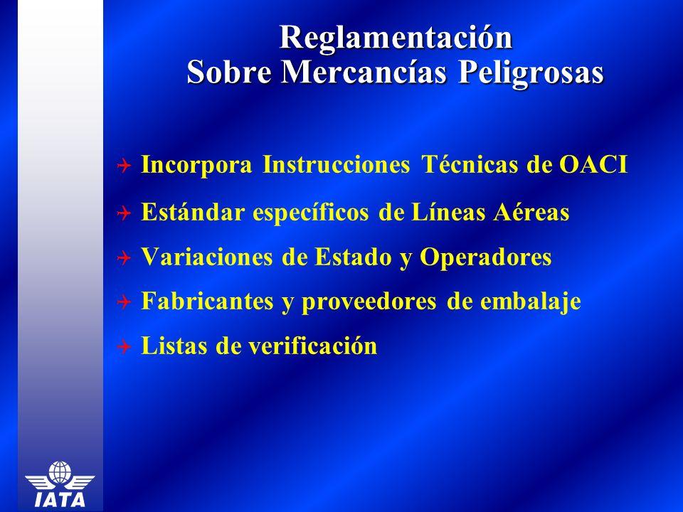 Reglamentación Sobre Mercancías Peligrosas Incorpora Instrucciones Técnicas de OACI Estándar específicos de Líneas Aéreas Variaciones de Estado y Oper