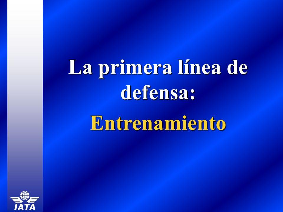 La primera línea de defensa: Entrenamiento