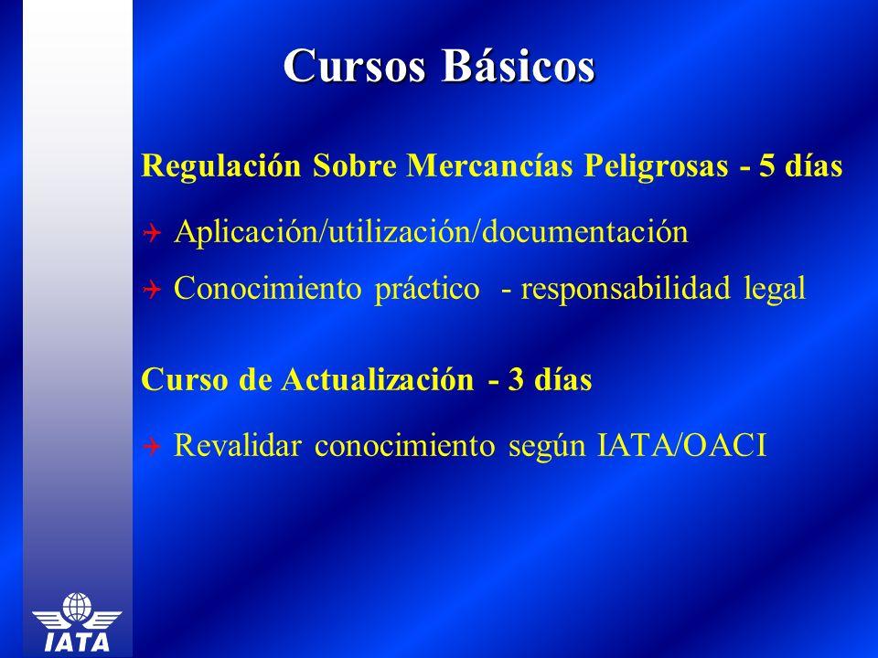 Regulación Sobre Mercancías Peligrosas - 5 días Aplicación/utilización/documentación Conocimiento práctico - responsabilidad legal Curso de Actualizac