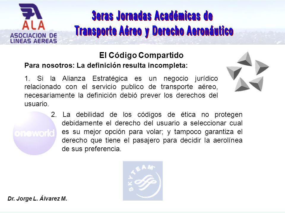 Dr. Jorge L. Álvarez M. El Código Compartido Dr.