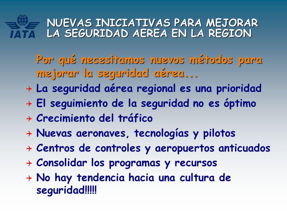 NUEVAS INICIATIVAS PARA MEJORAR LA SEGURIDAD AEREA EN LA REGION Por qué necesitamos nuevos métodos para mejorar la seguridad aérea... La seguridad aér