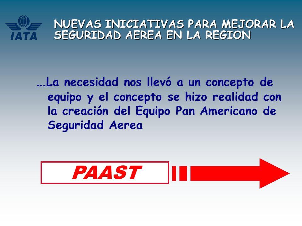 NUEVAS INICIATIVAS PARA MEJORAR LA SEGURIDAD AEREA EN LA REGION PAAST - El Concepto !!.