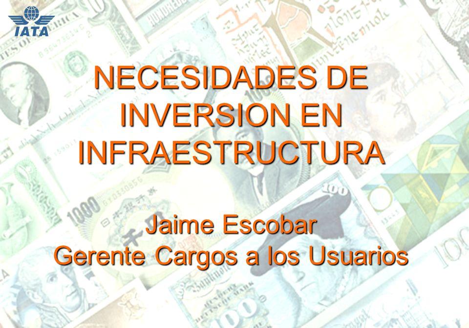 NECESIDADES DE INVERSION EN INFRAESTRUCTURA Jaime Escobar Gerente Cargos a los Usuarios