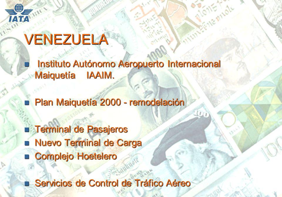 VENEZUELA n Instituto Autónomo Aeropuerto Internacional Maiquetía IAAIM.