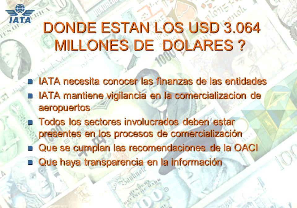 DONDE ESTAN LOS USD 3.064 MILLONES DE DOLARES . DONDE ESTAN LOS USD 3.064 MILLONES DE DOLARES .