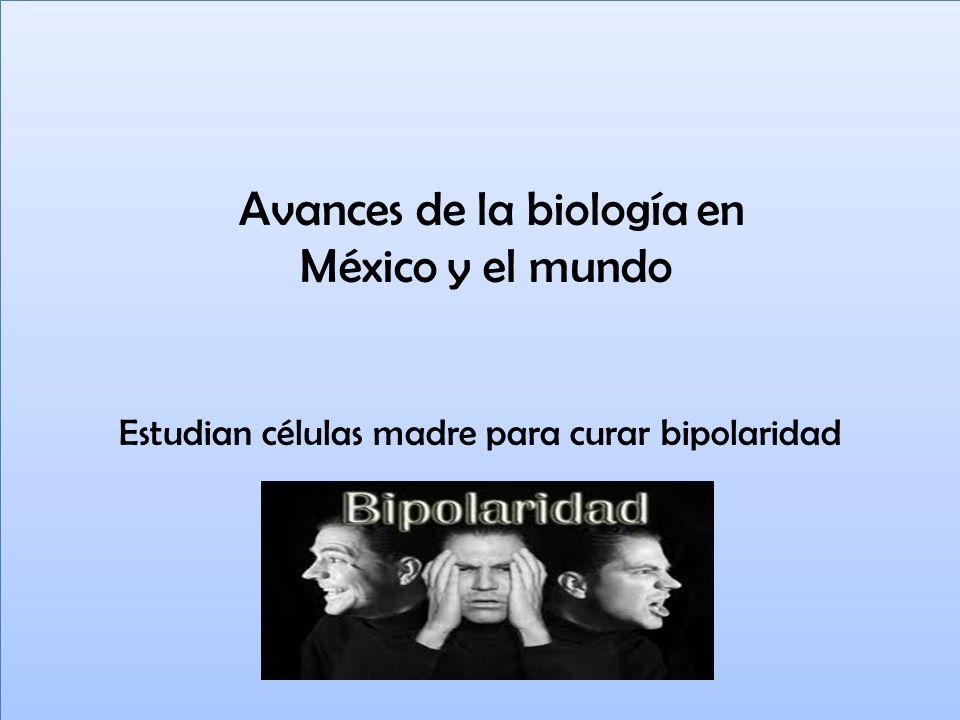 Avances de la biología en México y el mundo Estudian células madre para curar bipolaridad Avances de la biología en México y el mundo Estudian células