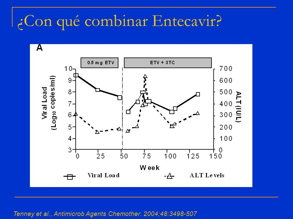 ¿Con qué combinar Entecavir? Tenney et al., Antimicrob Agents Chemother. 2004;48:3498-507