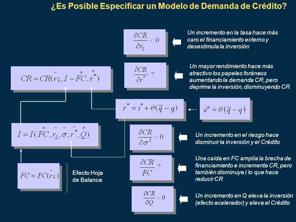 ¿Es Posible Especificar un Modelo de Demanda de Crédito.