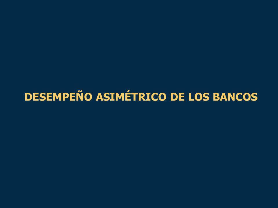 DESEMPEÑO ASIMÉTRICO DE LOS BANCOS