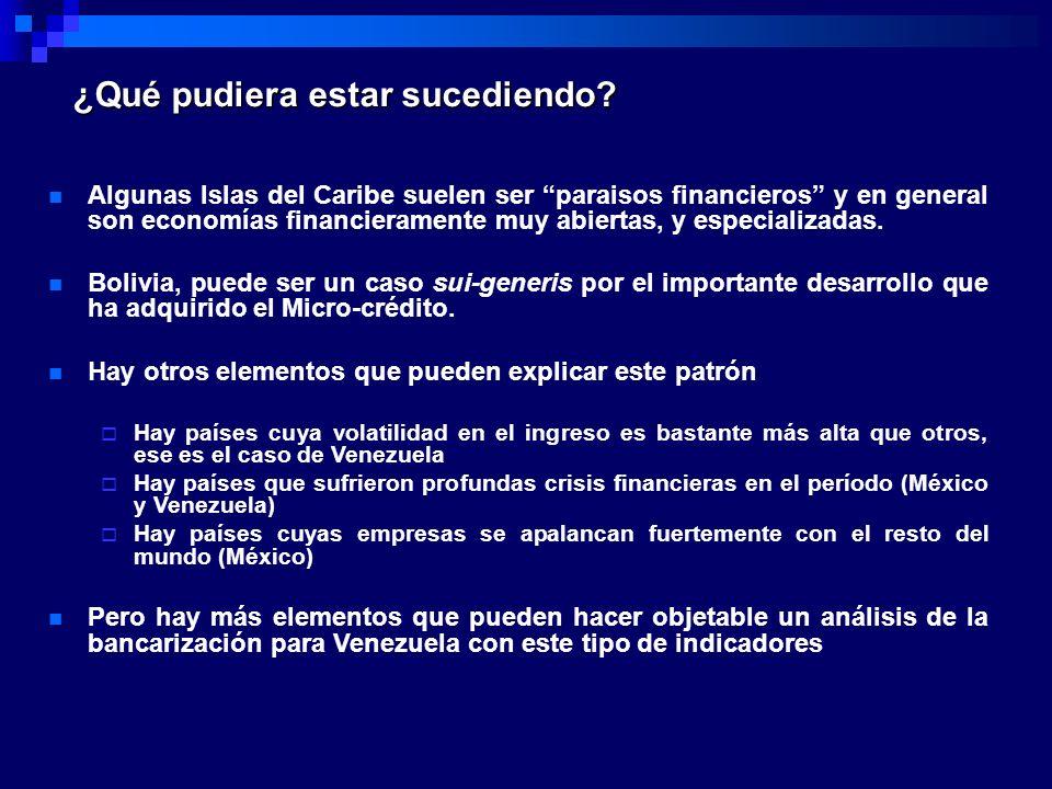 Bancarización e Informalidad La informalidad es un escollo.