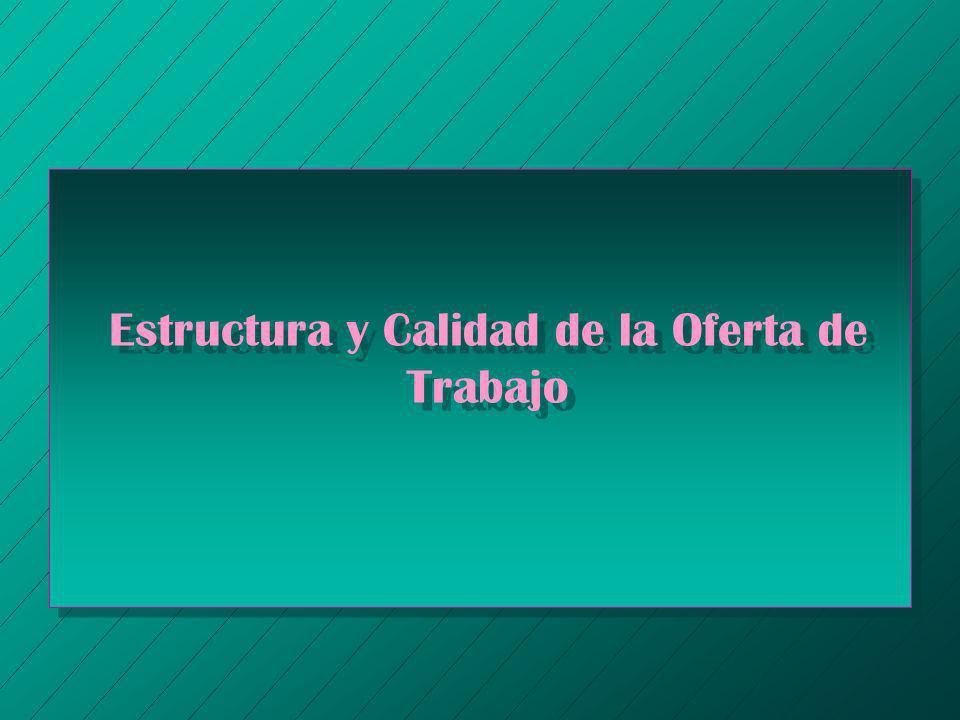 Estructura y Calidad de la Oferta de Trabajo