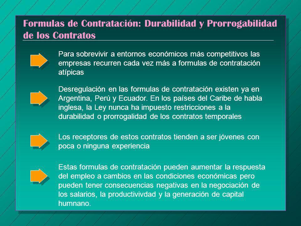 Formulas de Contratación: Durabilidad y Prorrogabilidad de los Contratos Para sobrevivir a entornos económicos más competitivos las empresas recurren