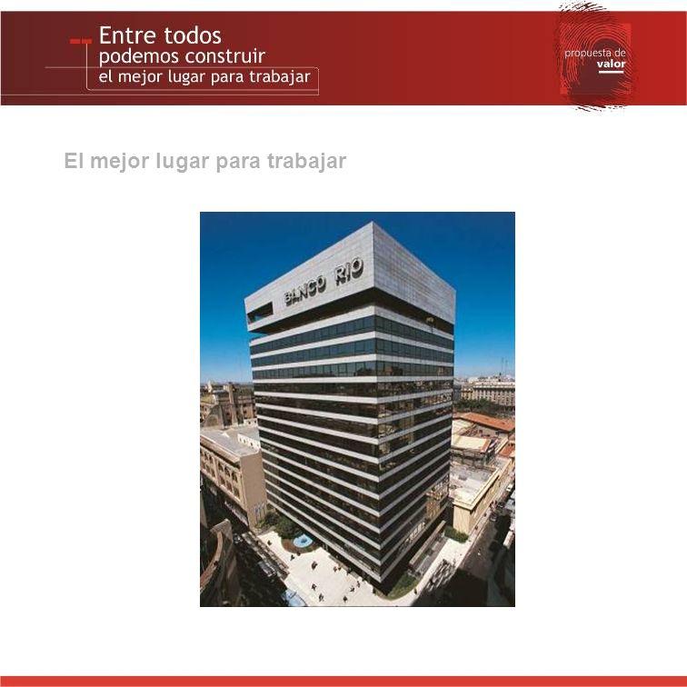 Las personas primero El interés de Banco RIO por sus empleados es histórico.