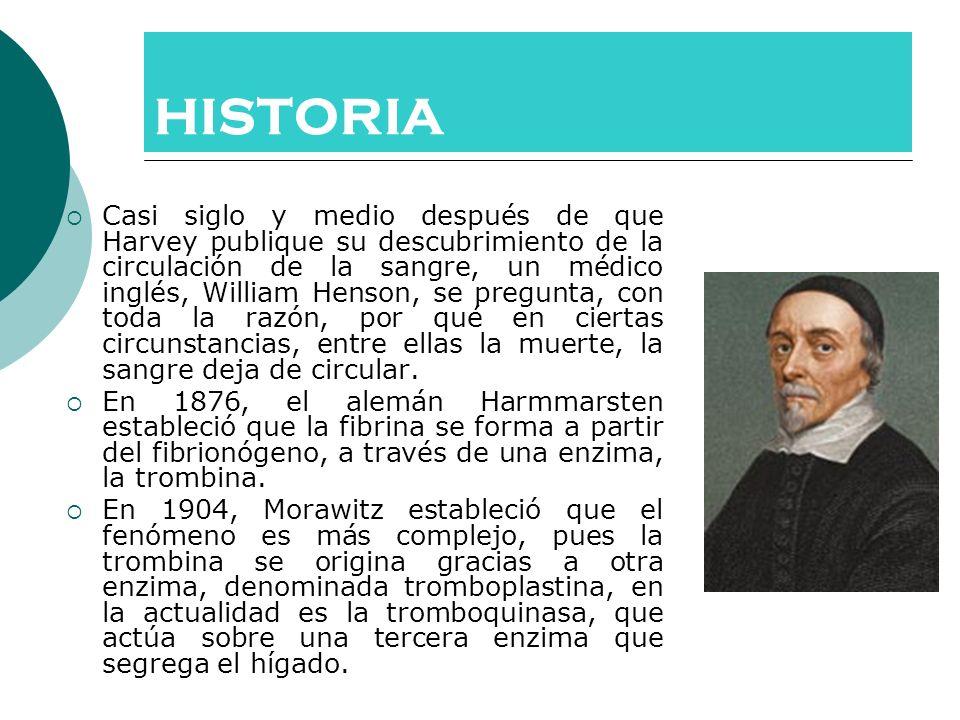HISTORIA Casi siglo y medio después de que Harvey publique su descubrimiento de la circulación de la sangre, un médico inglés, William Henson, se preg