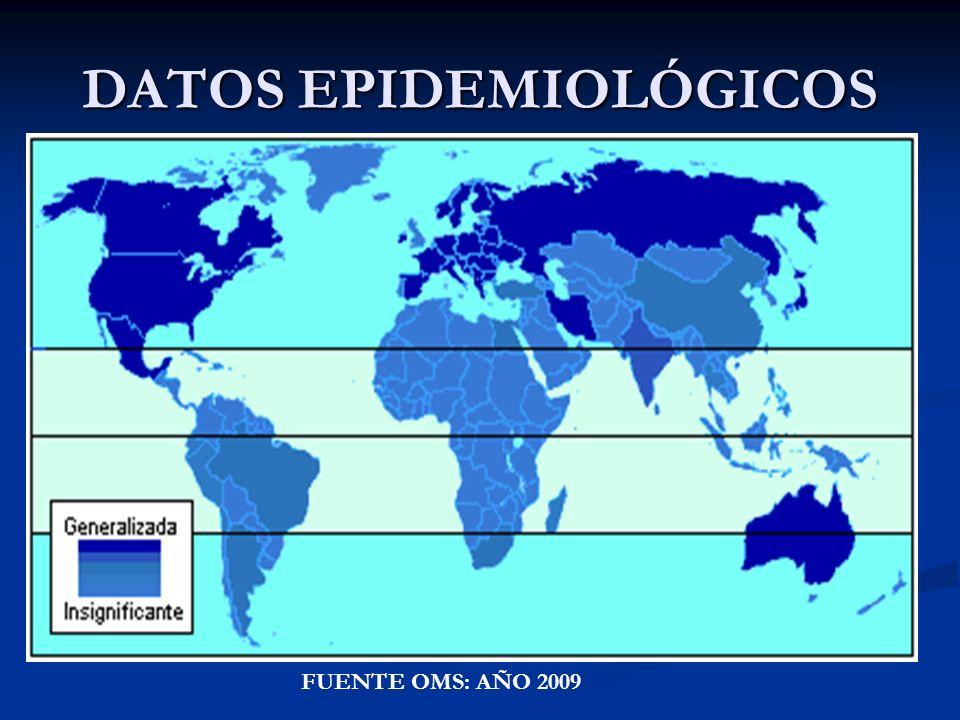 DATOS EPIDEMIOLÓGICOS FUENTE OMS: AÑO 2009