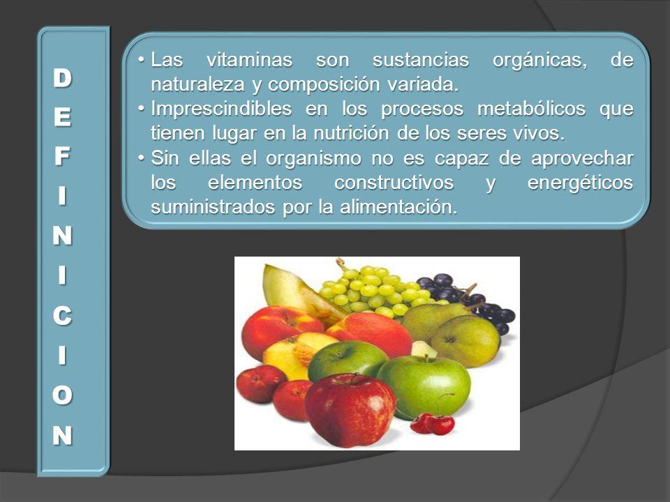 Las vitaminas son sustancias orgánicas, de naturaleza y composición variada.Las vitaminas son sustancias orgánicas, de naturaleza y composición variad