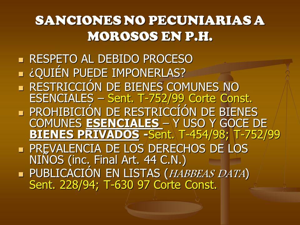 ¿EXISTE O NO UN DEBIDO PROCESO EN P.H.
